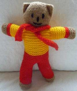 Photograph: Knitted teddy